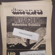 Revistas de música: DISCO EXPRES 312: MCLAUGHLIN MAHAVISHNU ORCHESTRA, LEO SAYER, GONG,TONY REEVES, LOU REED,SUPERTRAMP. Lote 222328922