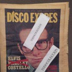 Revistas de música: DISCO EXPRES 499 (04-79):ELVIS COSTELLO,JIM MORRISON,TRIANA, ASFALTO, BRYAN FERRY, ROXY MUSIC. Lote 222379427