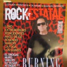 Revistas de música: ROCK ESTATAL.NUM.26-BURNING-REINCIDENTES-MAGO DE OZ-LOS SUAVES-EL DROGAS-LEÑO-MEDINA AZAHARA-ROSENDO. Lote 222396358