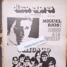 Revistas de música: DISCO EXPRES 89: MIGUEL RIOS, ROLLING STONES,LOS DIABLOS (POSTER),AZNAVOUR, CHICAGO,MIKE KENNEDY. Lote 222648433