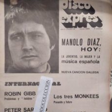 Riviste di musica: DISCO EXPRES 15 : BEATLES, BEE GEES, MANOLO DIAZ, ROBIN GIBB, NUEVA CANCION GALLEGA, MOSCOSO,J.BRUCE. Lote 223089792