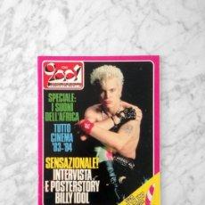 Revistas de música: CIAO 2001 - 1984 - BILLY IDOL, ROGER TAYLOR, GAZNEVADA, PRETENDERS, DAVID SYLVIAN, UMBERTO TOZZI. Lote 223379763
