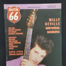Revistas de música: RUTA 66 Nº 58 WILLY DEVILLE,DAVID LINCH,FUGAZI,THE CHURCH,MAQUINA TAPIMAN ROCK PROGRESIVO ESPAÑOL. Lote 224077727
