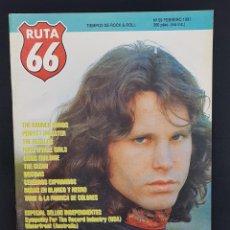 Revistas de música: RUTA 66 Nº 59 JIM MORRISON THE DOORS,REZILLOS,CEREBROS EXPRIMIDOS,RAUNCH HANDS,TARIK,BRYAN YUZNA. Lote 224082325