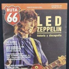 Revistas de música: RUTA 66 Nº 60 LED ZEPPELIN,THE DAMNED,EASYBEATS,LAGARTIJA NICK,FLESHTONES,GENERAL LEE,RICKY NELSON. Lote 224083753
