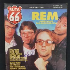 Revistas de música: RUTA 66 Nº 61 REM,STRAY CATS,DEVIL DOGS,ULTRA-TRASH,CANNED HEAT,IKE TURNER,LOS BRIOLES,WIN WENDERS. Lote 224084623