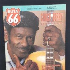 Revistas de música: RUTA 66 Nº 62 CHUCK BERRY,ANTONIO VEGA,CHRIS WILSON,NIKKI SUDDEN,STEVIE RAY VAUGHAN,JELLO BIAFRA. Lote 224086133