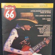 Revistas de música: RUTA 66 Nº 74 DOSSIER ROCKABILLY MADE IN SPAIN,JOHNNY WINTER,JOHN CALE,DEL FUEGOS,RIDE,SAM & DAVE. Lote 224096963