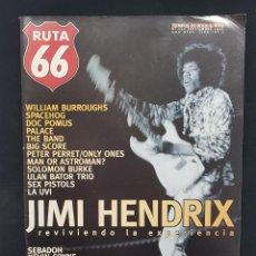 Revistas de música: RUTA 66 Nº 120 JIMI HENDRIX,MAN OR ASTROMAN SURF MUSIC,ULAN BATOR TRIO,PETER PERRET,LA UVI,BURROUGHS. Lote 224123861