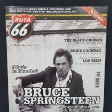 Revistas de música: RUTA 66 Nº 243 BRUCE SPRINGSTEEN,LOU REED,EDDIE COCHRAN,BLACK CROWES,CALAMARO,THE JAM,THE CULT. Lote 224216248