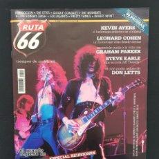 Revistas de música: RUTA 66 Nº 244 LED ZEPPELIN,LEONARD COHEN,QUIQUE GONZALEZ,PRETTY THINGS,KEVIN AYERS,GRAHAM PARKER. Lote 224217658