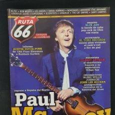 Revistas de música: RUTA 66 Nº 338 AC/DC,MCCARTNEY,TORO RECORDS,BLUE ASH,LOS CHICOS,LOQUILLO,CORIZONAS,URBAN SAX,ARTMAN. Lote 224229748