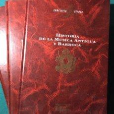 Revistas de música: HISTORIA DE LA MÚSICA ANTIGUA Y BARROCA. 3 TOMOS. Lote 224757198