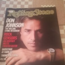 Riviste di musica: REVISTA ROLLING STONE Nº 460. 7/11/85.DON JOHNSON,FARM AID,REM...EDICIÓN USA.. Lote 225207930