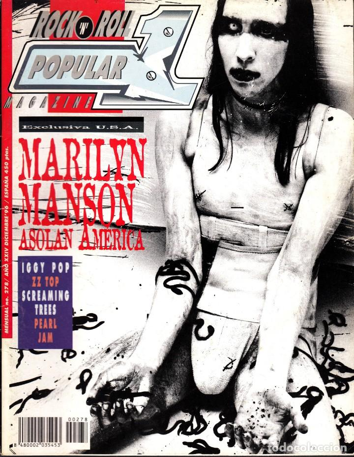 REVISTA POPULAR 1 NUMERO 278 MARYLIN MANSON (Música - Revistas, Manuales y Cursos)