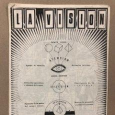Revistas de música: LA VISIÓN N° 3 (GRANADA 1983). HISTÓRICO FANZINE ORIGINAL; COCTEAU TWINS, SPK, THE FRENCH IMPRESSION. Lote 225502402