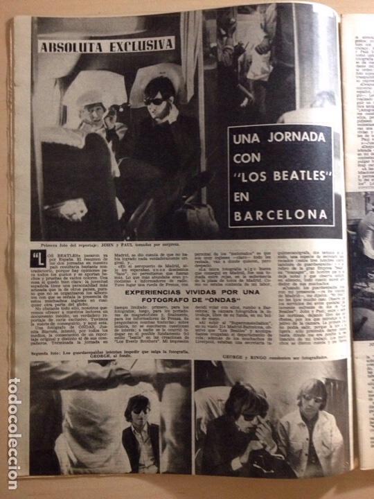 Revistas de música: BEATLES - REPORTAJE EN EXCLUSIVA DE LA VISITA A BARCELONA 03 JULIO 1965 ------REVISTA ONDAS NUM. 303 - Foto 7 - 225633560