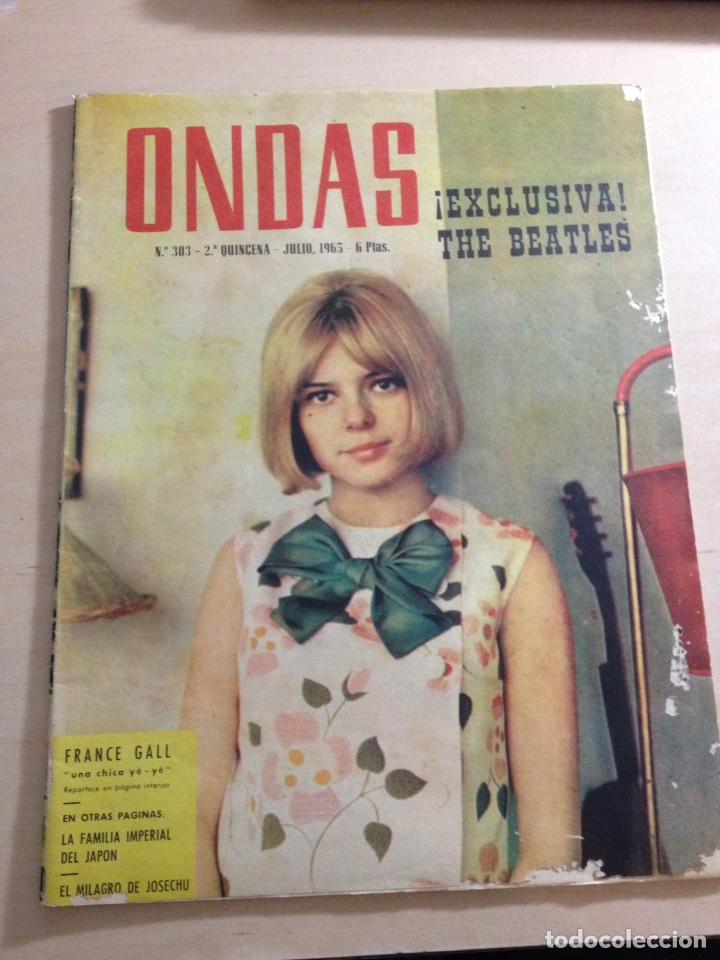 BEATLES - REPORTAJE EN EXCLUSIVA DE LA VISITA A BARCELONA 03 JULIO 1965 ------REVISTA ONDAS NUM. 303 (Música - Revistas, Manuales y Cursos)
