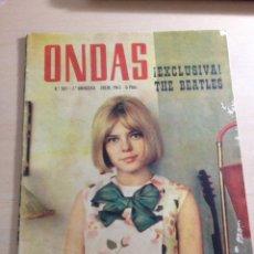 Revistas de música: BEATLES - REPORTAJE EN EXCLUSIVA DE LA VISITA A BARCELONA 03 JULIO 1965 ------REVISTA ONDAS NUM. 303. Lote 225633560