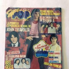 Revistas de música: SUPER POP Nº 43 / TEQUILA AL DESNUDO / MIGUEL BOSE - POSTER / PEDRO MARIN ( INSIGNIA FOTO ) PRECINTO. Lote 226150530