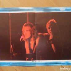 Revistas de música: ACCEPT / WHITESNAKE : DOBLE POSTER !!!!. Lote 226272028