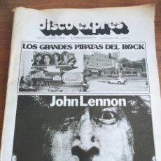 Revistas de música: DISCO EXPRES 299 1974 JOHN LENNON BEATLES TRIANA JETHRO TULL. Lote 226396455