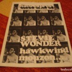Riviste di musica: REVISTA DISCO EXPRES Nº 403 STEVIE WONDER HAWKWIND BEATLES MOUZON 1976. Lote 228002875