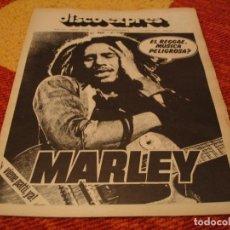 Riviste di musica: REVISTA DISCO EXPRES Nº 394 BOB MARLEY JEFF BECK PATTI SMITH ARCHIE SHEPP GROUNDHOGS K CRIMSON 1976. Lote 228003450