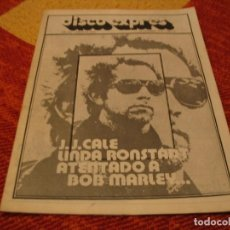Riviste di musica: REVISTA DISCO EXPRES Nº 406 J.J. CALE BOB MARLEY BLACK SABBATH LINDA RONSTADT PETE TOSH 1976. Lote 228009615