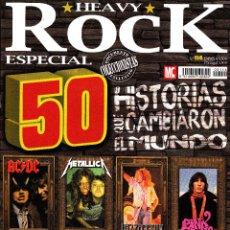 Revistas de música: REVISTA HEAVY ROCK ESPECIAL NÚMERO 114 50 HISTORIAS QUE CAMBIARON. Lote 228089745