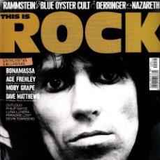 Magazines de musique: REVISTA THIS IS ROCK NUMERO 64 KEITH RICHARDS. Lote 228115987