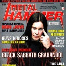 Revistas de música: REVISTA METAL HAMMER NUMERO 163 OZZY OSBOURNE CON POSTER DE OZZY OSBOURNE, SLAYER, ROB ZOMBIE. Lote 228406275