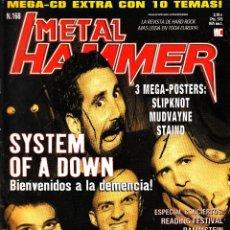 Revistas de música: REVISTA METAL HAMMER NUMERO 168 SYSTEM OF A DOWN CON POSTER DE SLIPKNOT, MUDVAYNE Y STAIND. Lote 228406870
