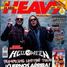 Revistas de música: REVISTA HEAVY ROCK NUMERO 391 HELLOWEEN CON POSTER DE METALLICA, GUNS AND ROSES, HELLOWEE. Lote 228849535