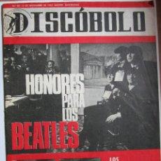 Revistas de música: DISCOBOLO Nº 88 HONORES PARA LO BEATLES - MARISOL - RAPHAEL VER FOTOGRAFIAS. Lote 229002485