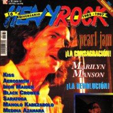 Revistas de música: REVISTA HEAVY ROCK NUMERO 161 PEARL JAM. Lote 229332345