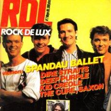 Revistas de música: REVISTA ROCK DE LUX NUMERO 7 1985 SPANDAU BALLET. Lote 229750685
