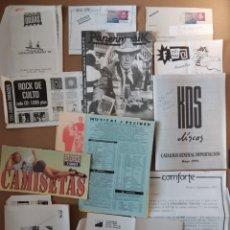 Revistas de música: CATÁLOGOS TIENDAS DISCOS Y COMPAÑÍAS INDEPENDIENTES 90'S - ZONA DE OBRAS, PAPERMUSIK, RUNNING CIRCLE. Lote 230021380