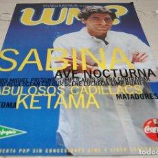 Revistas de música: REVISTA MUSICAL WM? WHAT´S MUSIC? NÚMERO 28 SEPTIEMBRE DE 1999 JOAQUÍN SABINA. Lote 230263075