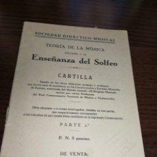 Revistas de música: (1943),ENSEÑANZA DEL SOLFEO, SOCIEDAD DIDÁCTICO CULTURAL.. Lote 233160585