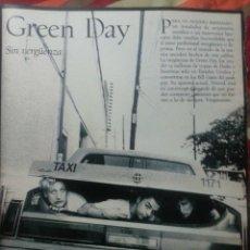 Revistas de música: GREEN DAY COLECCIÓN DE ARTÍCULOS, REPORTAJES Y REVISTA. Lote 233182160