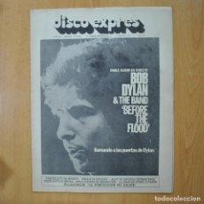 Revistas de música: DISCO EXPRES - BOB DYLAN & THE BAND BEFORE THE FLOOD - REVISTA. Lote 233285925