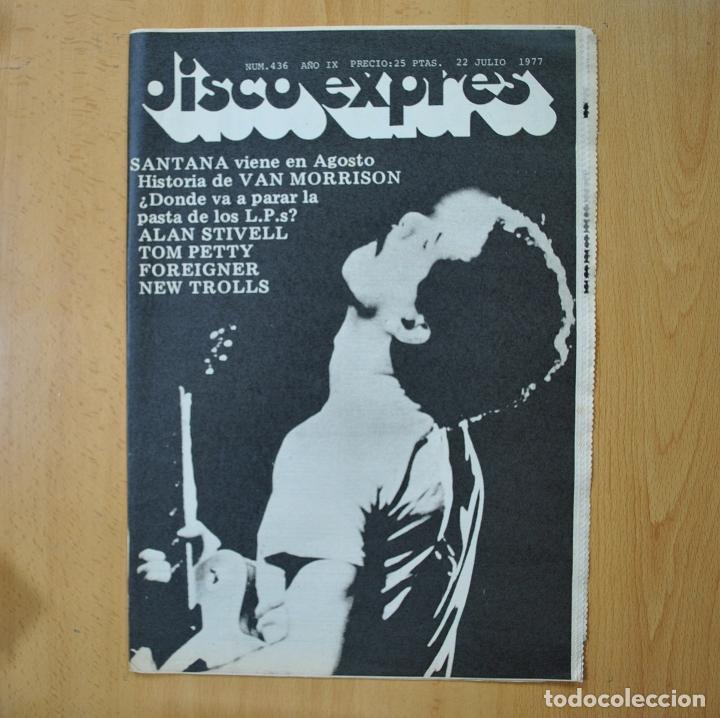 DISCO EXPRES - SANTANA / HISTORIA VAN MORRISON - REVISTA (Música - Revistas, Manuales y Cursos)