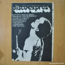 Revistas de música: DISCO EXPRES - SANTANA / HISTORIA VAN MORRISON - REVISTA. Lote 233286045