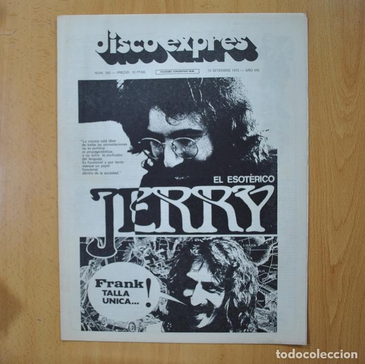 DISCO EXPRES - EL ESOTERICO JERRY - REVISTA (Música - Revistas, Manuales y Cursos)