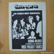 Revistas de música: DISCO EXPRES - GONG BLUES J. STEWART & W. JENNINGS ROCK POLACO Y DANES - REVISTA. Lote 233286745