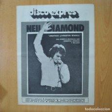 Revistas de música: DISCO EXPRES - NEIL DIAMOND - REVISTA. Lote 233286790