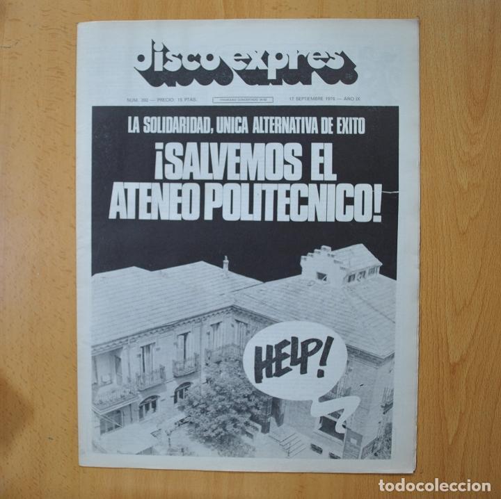 DISCO EXPRES - SALVEMOS EL ATENEO POLITECNICO - REVISTA (Música - Revistas, Manuales y Cursos)