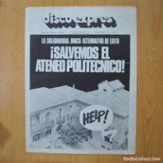 Revistas de música: DISCO EXPRES - SALVEMOS EL ATENEO POLITECNICO - REVISTA. Lote 233286835