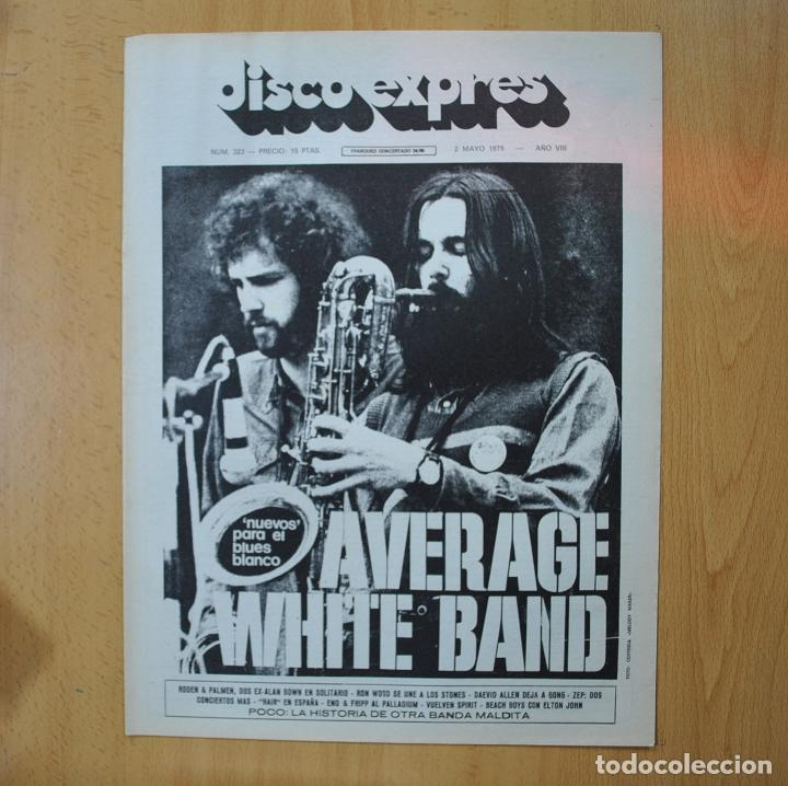 DISCO EXPRES - AVERAGE WHITE BAND / POCO - REVISTA (Música - Revistas, Manuales y Cursos)